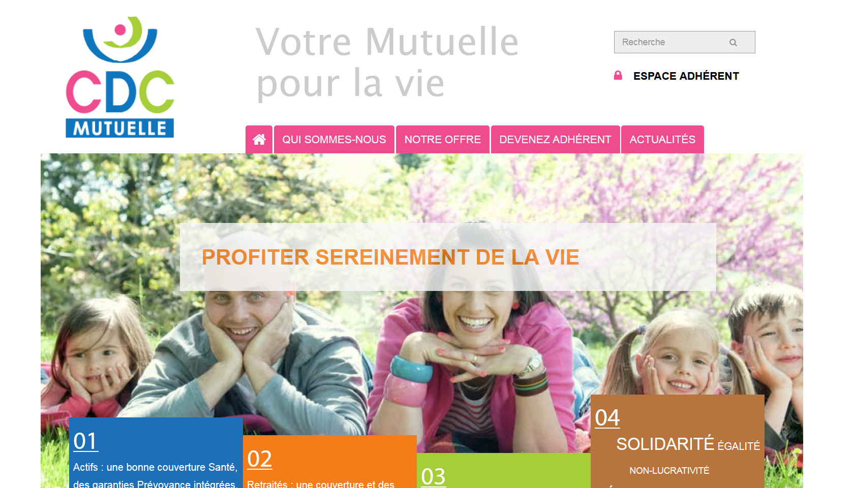 CDC Mutuelle - Page d'accueil